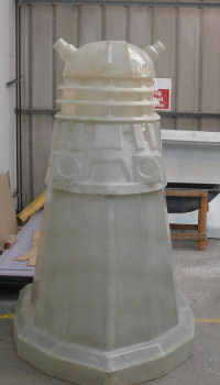 Dalek feature under construction at Blackpool Illuminations